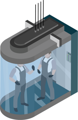 équipe d'uptimal ascenseurs